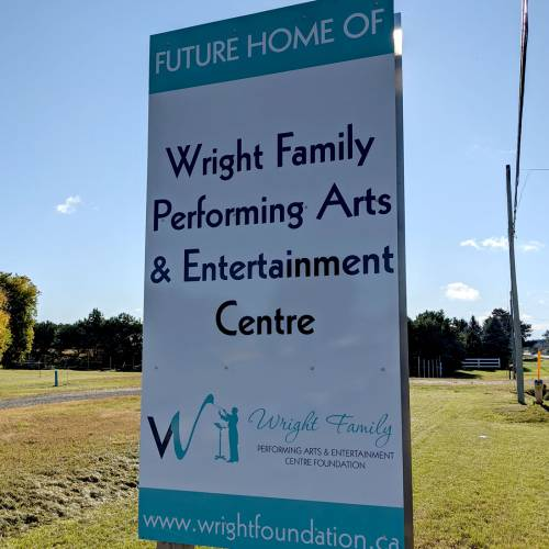 New Signage at Theatre Property