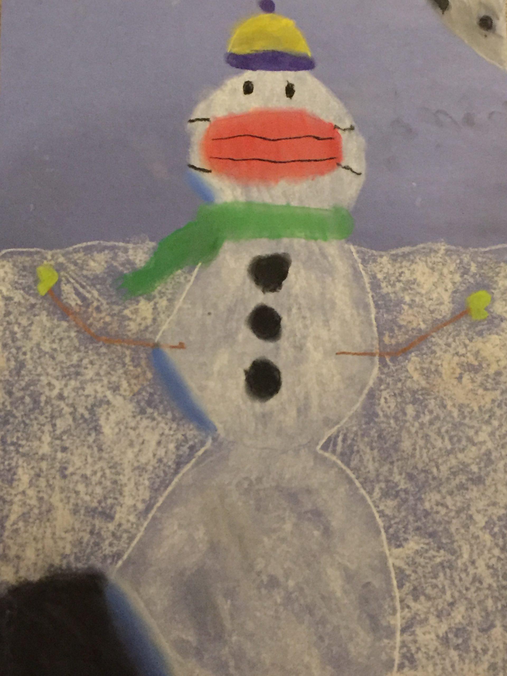 snowmen wear masks too